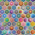 Rainbow honeycombs by Anastasia Helten