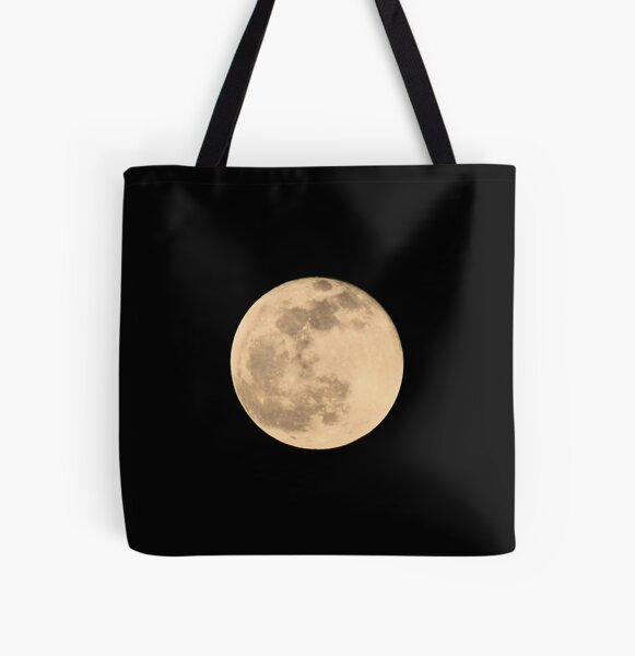 Full Moon Photograph All Over Print Tote Bag