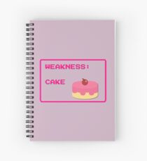 CAKE is my weakness Spiral Notebook