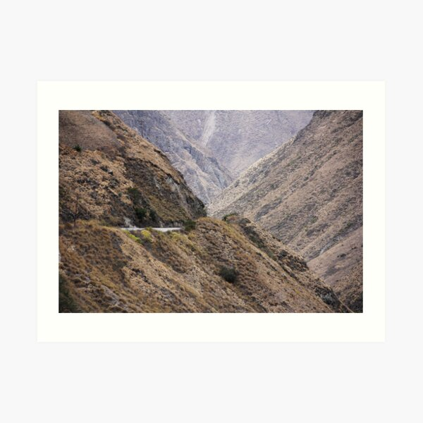 Intersection of valleys, mountains and hillsides near Alausi, Ecuador Art Print