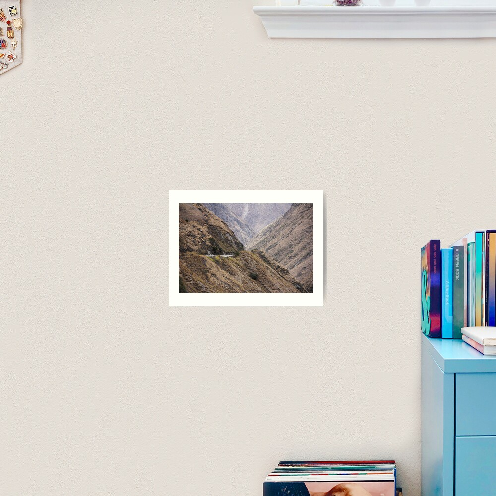 Intersection of valleys, mountains and hillsides near Alausi, Ecuador Art Print