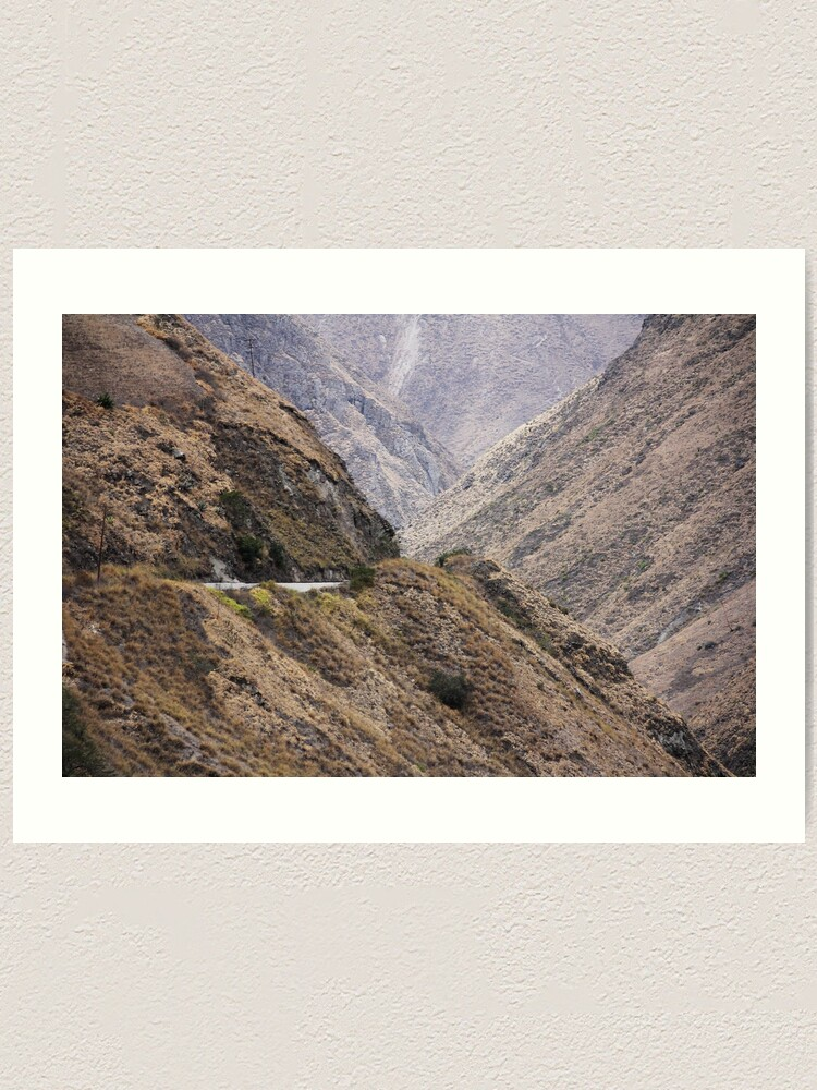 Alternate view of Intersection of valleys, mountains and hillsides near Alausi, Ecuador Art Print