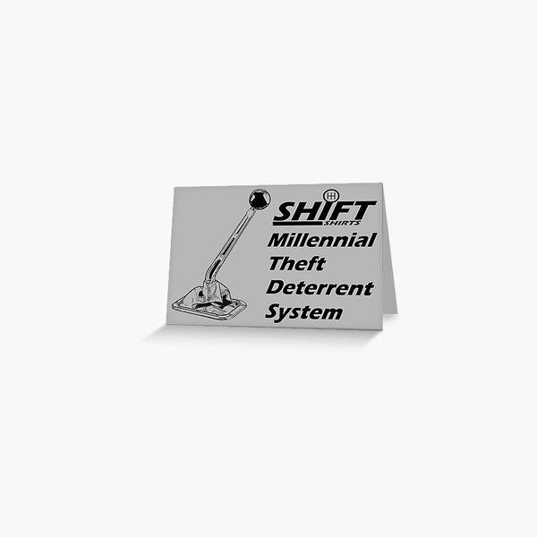 Shift Shirts Theft Deterrent - Manual Transmission Greeting Card