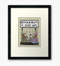 Chav Daleks Framed Print
