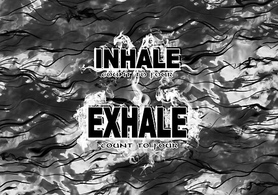 Inhale and Exhale Black and White by SpiritSeekers