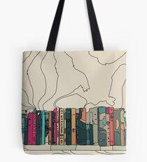 Bücher in einem Bücherregal 2 Tote Bag