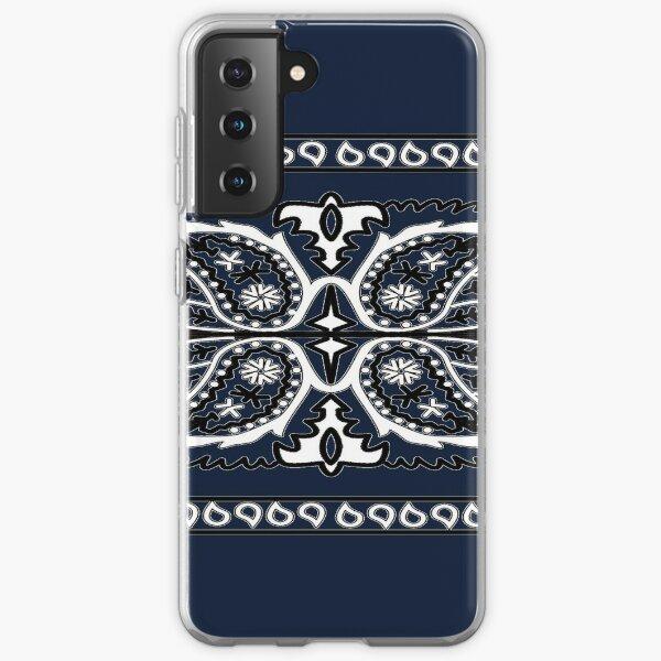 Bandana Design - Traditional Blue Samsung Galaxy Soft Case