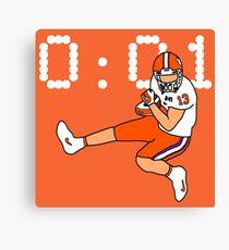 Clemson Game Winning Touchdown Canvas Print