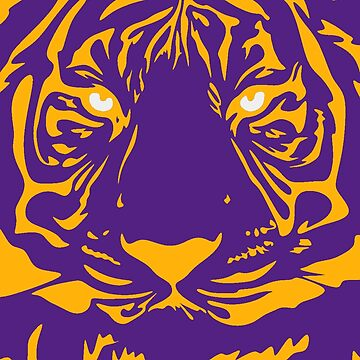 Bayou Bengal Tiger Face 3 by CollegeTown