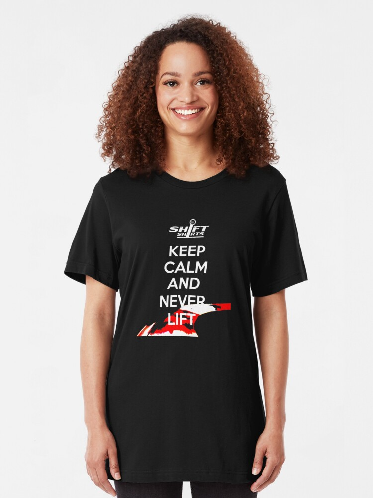 Alternate view of Shift Shirts Keep Calm Apex - HDPE and Race Driver Slim Fit T-Shirt