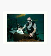 Extreme underwater ironing Art Print