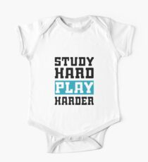 Study Hard Play Harder - Video Games T-shirt One Piece - Short Sleeve