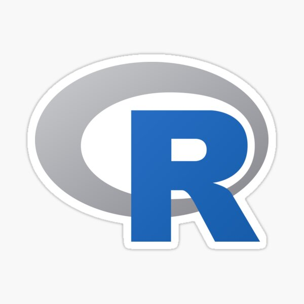 R Language Logo Sticker