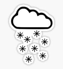Clouds snow Sticker