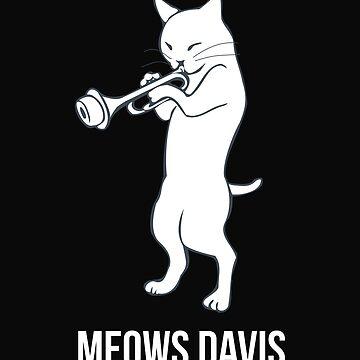 Funny Miles Davis Cat by SQWEAR