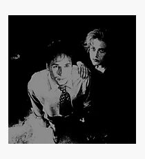 Mulder and Scully hand on shoulder Photographic Print