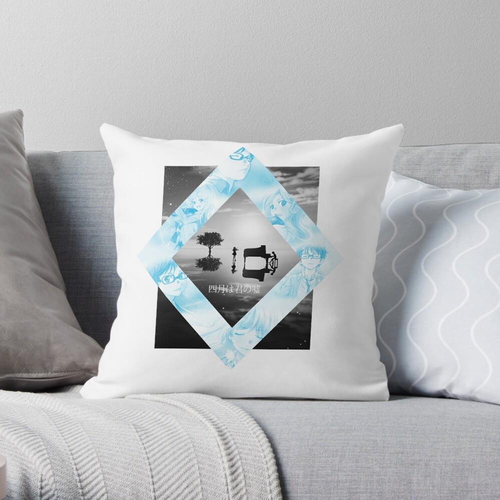 Shigatsu Wa Kimi No Uso Kousei X Kaori Wallpaper Throw Pillow