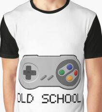 Old school - Super Nintendo Controller Graphic T-Shirt