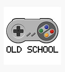 Old school - Super Nintendo Controller Photographic Print