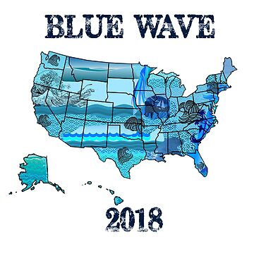 Political Democrat Blue Wave Midterms 2018 November Vote Them Out by Greenguy79