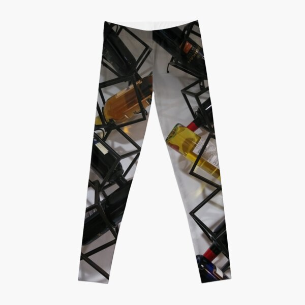 Wine bottles, Shelf, Building, Technopunk, Steampunk, Cyberpunk Leggings