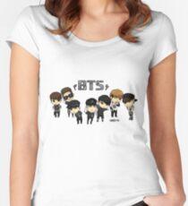 BTS - Bangtan Boys Women's Fitted Scoop T-Shirt
