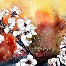modern abstract japanese cherry blossom prints by derekmccrea