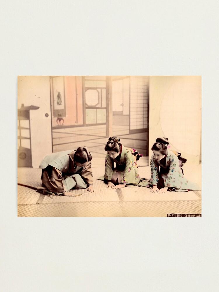 Alternate view of Samurai & Geisha Photographic Print