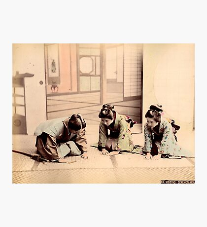 Samurai & Geisha Photographic Print