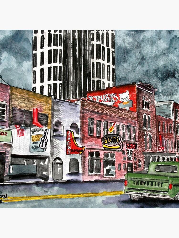 Nashville Tennessee country music art von derekmccrea