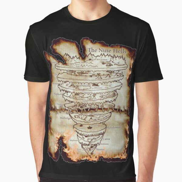 Map of The Nine Hells Graphic T-Shirt