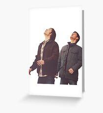 sam and dean Greeting Card