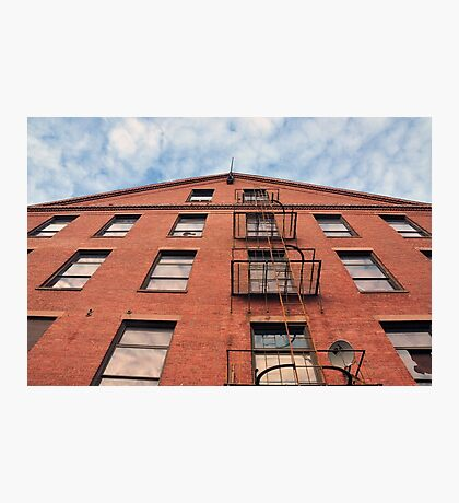 The Broken Window -Old Mill in Holyoke, MA  Photographic Print