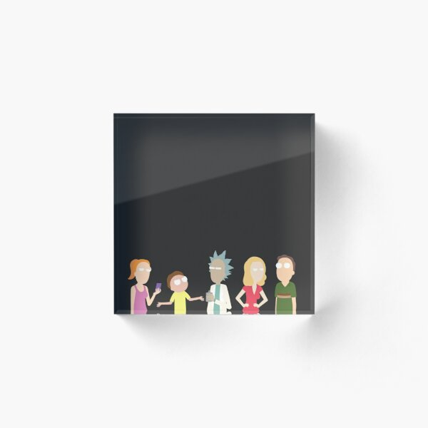 Minimalist Smith Family Acrylic Block
