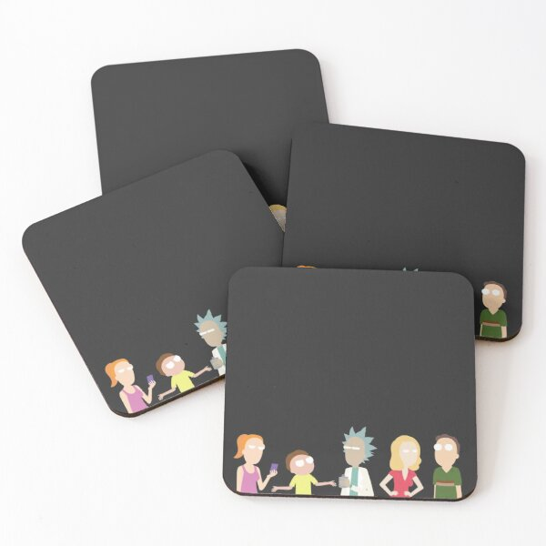 Minimalist Smith Family Coasters (Set of 4)