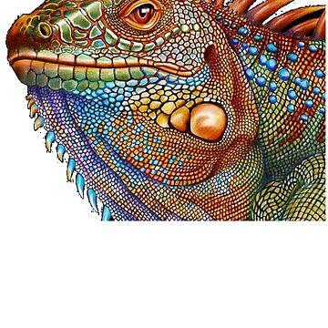 Cool Iguana Shirt - Iguana Painting - Iguana Gift - Reptile Lover - Lizard Lover  by Galvanized