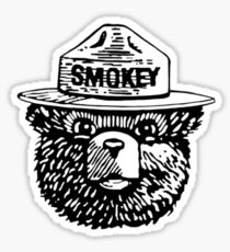 Smokey Black and White Sticker