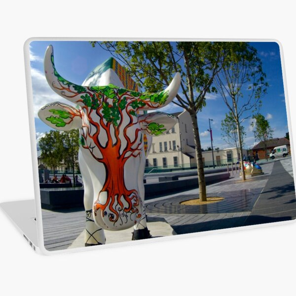 Cows and Trees, Ebrington Square, Derry Laptop Skin