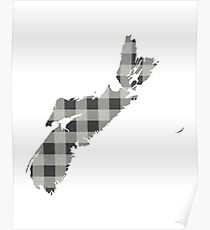 Nova Scotia Plaid in Gray Poster