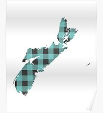 Nova Scotia Plaid in Mint Poster