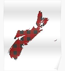 Nova Scotia Plaid in Red Poster