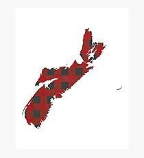 Nova Scotia Plaid in Red Photographic Print