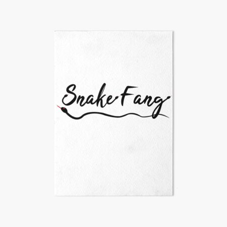 Snake Fang Art Board Print