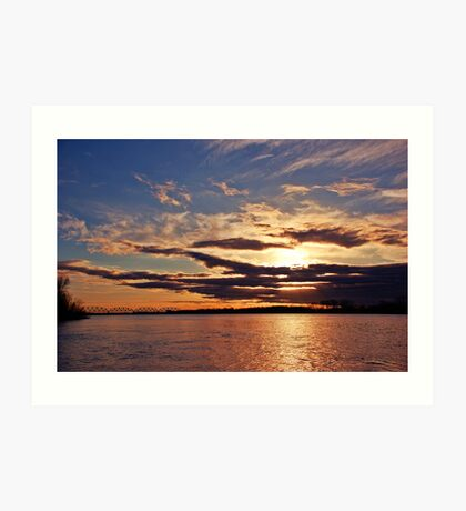 Sunset on the Ohio River Art Print