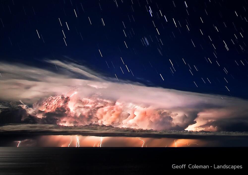 The Raging Stillness - Startrails Version by Geoff  Coleman - Landscapes