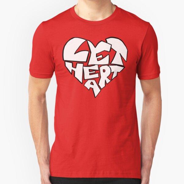 Let Heart Slim Fit T-Shirt