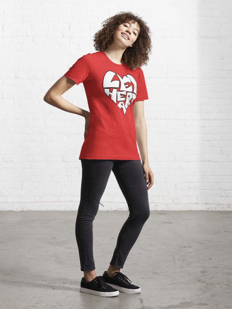 Alternate view of Let Heart Essential T-Shirt