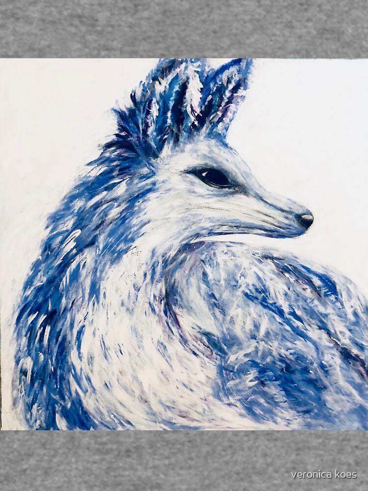 Inverted Arctic Fox by veronicajones