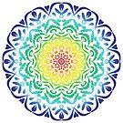 Floral Rainbow Mandala by haymelter