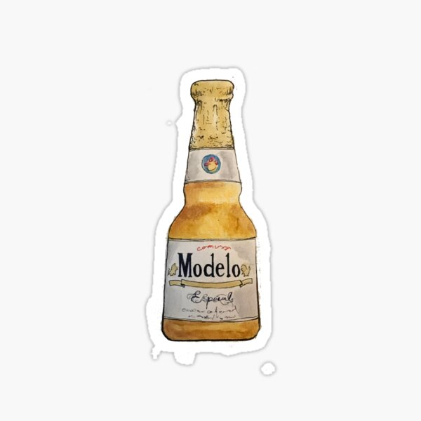 Modelo Bottle Ilustration Sticker